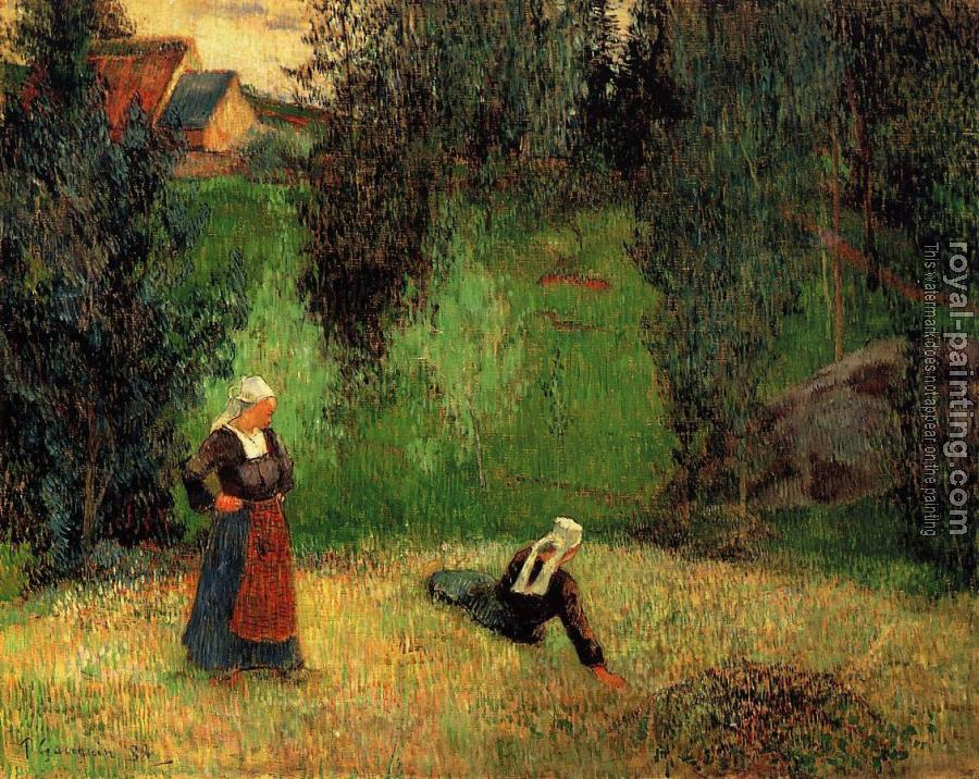 Paul Gauguin : First Spring Flowers